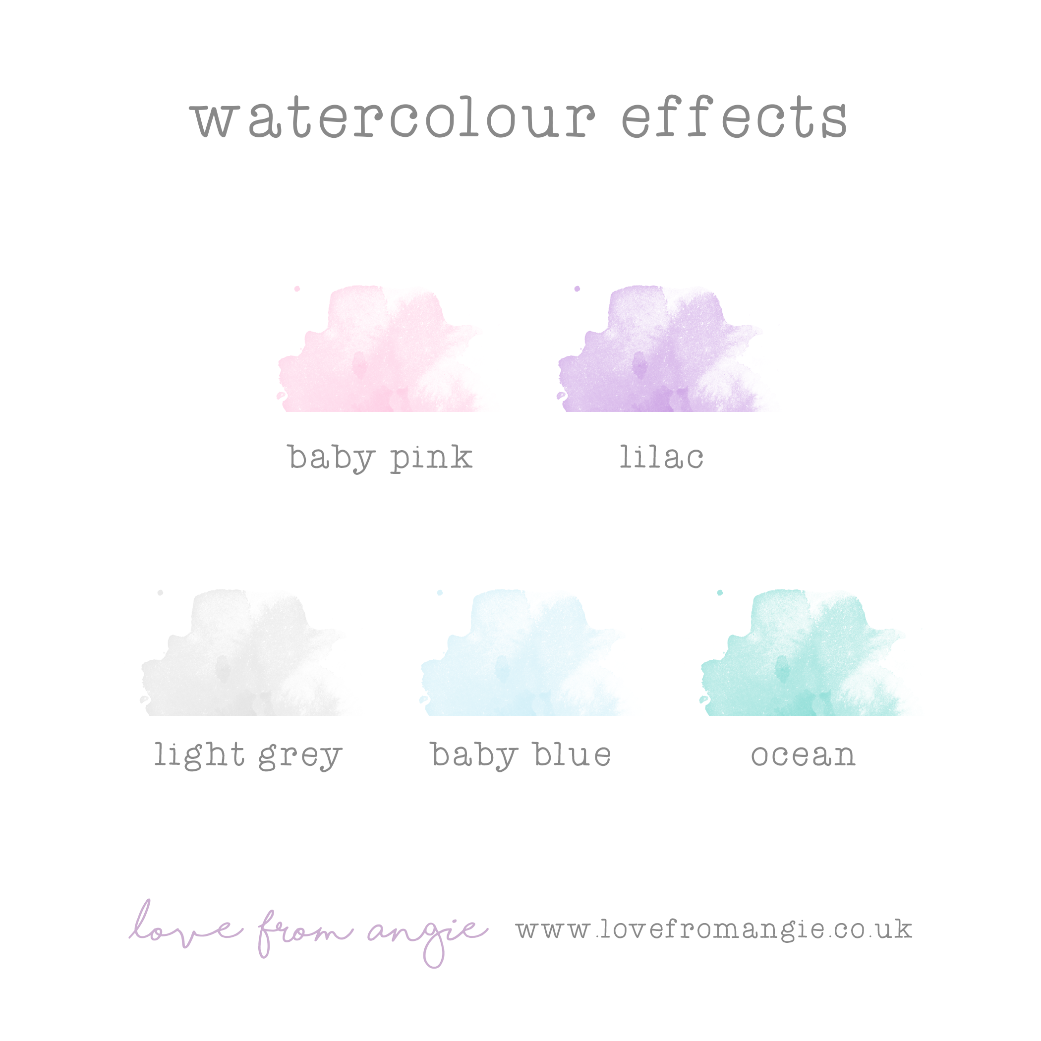 Watercolour Choices for Love From Angie Foil Prints