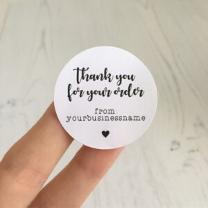 Thank You For Supporting This Small Business - Personalised Stickers 37mm
