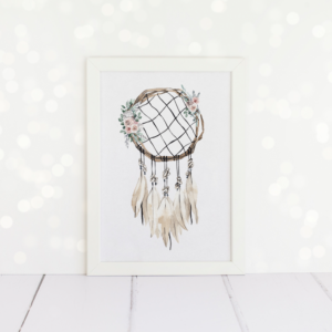 Circle Dreamcatcher A4 Print.