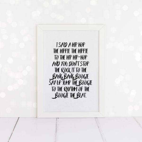 Rappers Delight A4 Print.
