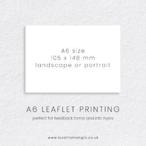 A6 Leaflet Print