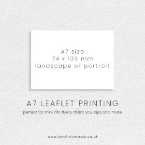 A7 Leaflet Print